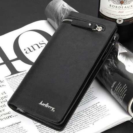 Клатч-портмоне мужской BAELLERY ITALIA BLACK - Интернет магазин