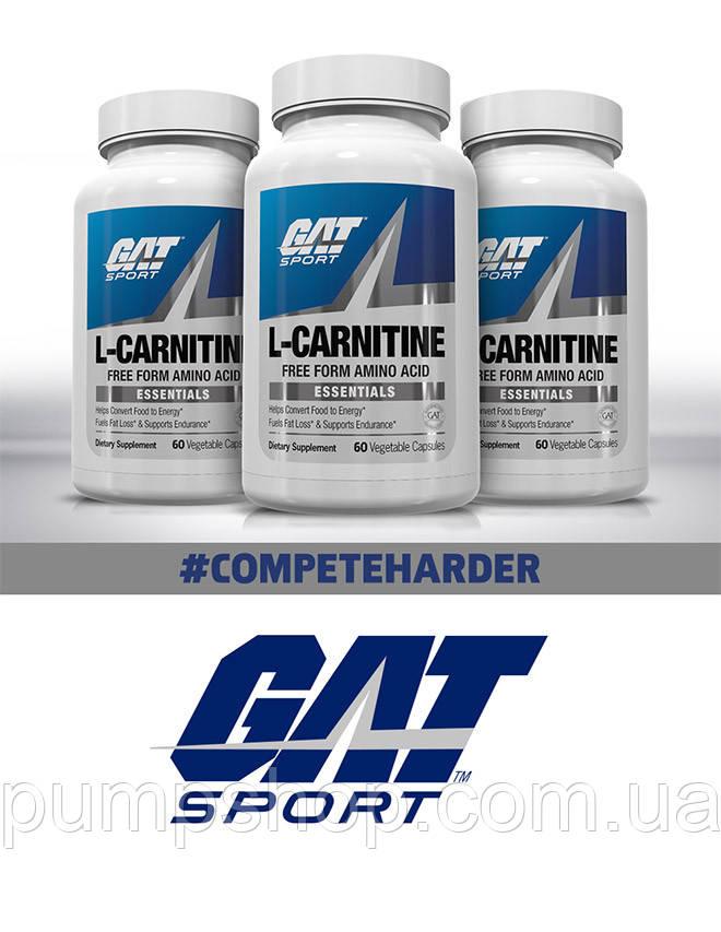 Л-карнитин GAT L-Carnitine 60 капсул ( США ) (срок по 10.18)