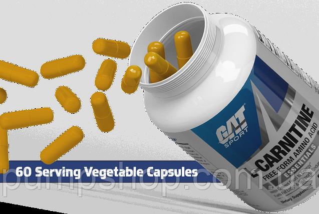 Л-карнитин GAT L-Carnitine 60 капсул ( США ) (срок по 10.18), фото 2