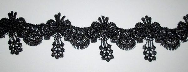 Кружево макраме Подвески 5 см, черное