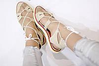 Стильные летние женские комфортные сандалии-гладиаторы от TroisRois из натуральной турецкой кожи