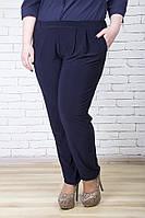 Стильные брюки женские большой размер Фиеста синий (54-64)