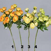 Камелия (рунункулес) кустовая 55см Цветы искусственные
