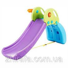 Детская горка с баскетбольным кольцом Bambi, Фиолетовая