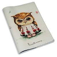 Обложка на паспорт -Любвеобильная сова-