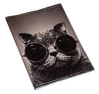 Обложка на паспорт -Крутой кот-