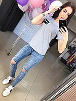 """Женская стильная футболка """"Fendi"""" (3 цвета)"""