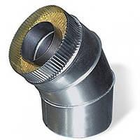 Колено 45° нерж\оц — s-0,5мм — Ø-110/180 мм