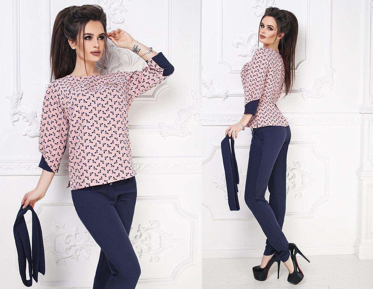abaf219fb32 Костюм (брюки+блузка)   продажа