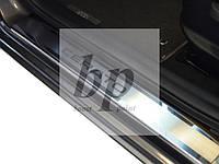 Защитные хром накладки на пороги Kia Cerato III (киа церато/черато/серато 2013+)