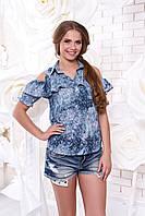 Стильная блуза из штапеля Мираж 11 Arizzo 44-50 размеры