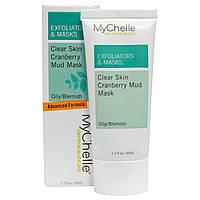MyChelle Dermaceuticals, Отшелушивающие засоби & маски, Чиста шкіра Грязьова маска з журавлиною, Для жирної шкіри/з недосконалостями, 1.2 унції (35 мл)