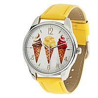 Часы наручные Мороженое желтые