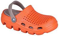 Детские клоги Coqui Bugy Оранжево-коричневые 0035-45
