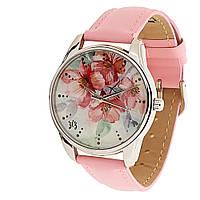 Часы наручные Цветение розовые