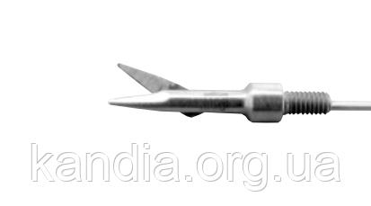 Микроножницы вставные, прямые, одна подвижная бранша, Ø 5 мм