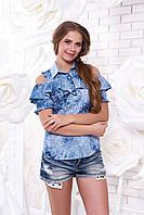 Молодежная блуза из штапеля Мираж 13 Arizzo 44-50 размеры