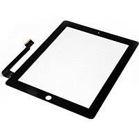 Тачскрин для iPad 3/4 черный, полный комплект, копия высокого качества