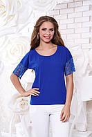 Женская блуза А 38 электрик Arizzo 44-54 размеры