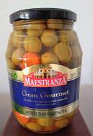Оливки Maestranza aceituna gazpacha зеленые маслины с овощами 950мл