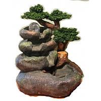 Фонтан большой садовый декоративный Круглый камень шарик может не вращаться 568 высота 35 см 078с