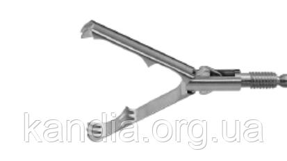 Зажим вставной когтевой, инвазивный, 2-3 зуба, острый, две подвижные бранши, Ø 5 мм