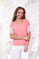 Женская персиковая блуза А 38  Arizzo 44-54 размеры