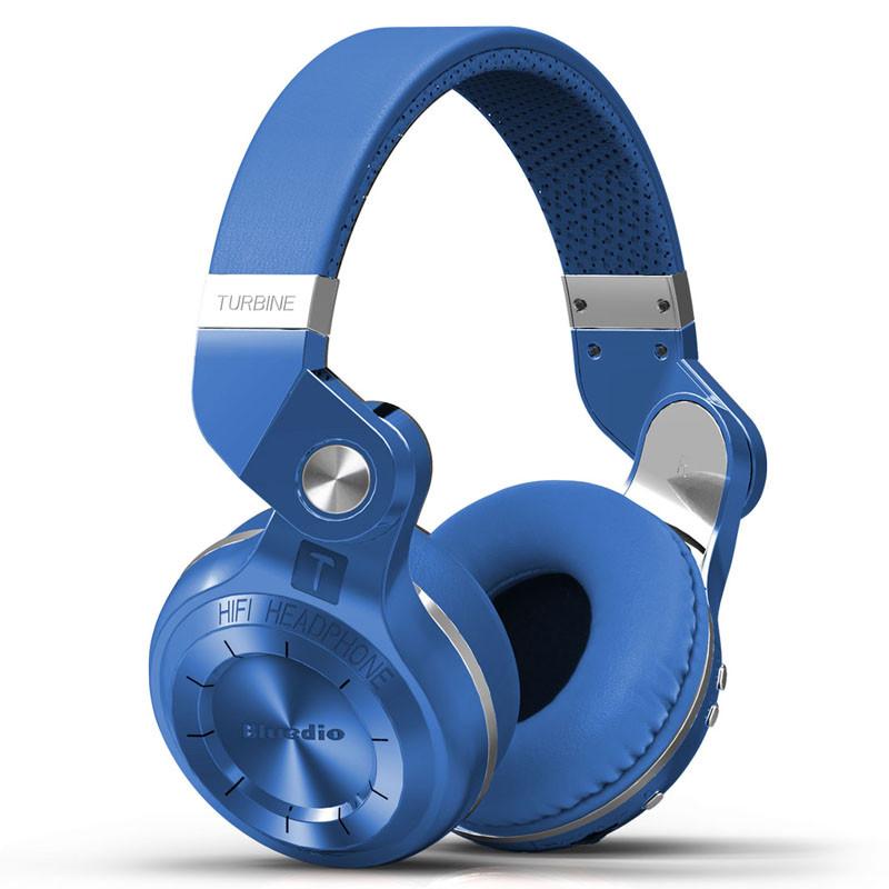 Беспроводные Bluetooth наушники гарнитура Bluedio T2S Turbine. Синие.