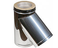 Тройник 45° нерж\нерж — s-1мм — Ø-140/200 мм
