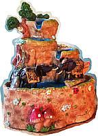 Фонтан декоративный  мини  детский со слониками  домашний комнатный настольный с  насосом для воды955 15=12=17
