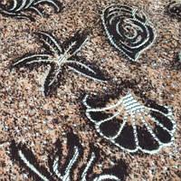 Мебельная ткань велюр (Шпигель)  морское дно