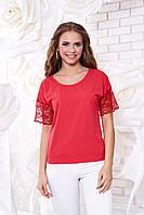 Женская коралловая блуза А 38  Arizzo 44-54 размеры