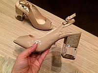 """Босоножки женские на каблуке мод.""""Хрусталь - блеск"""""""