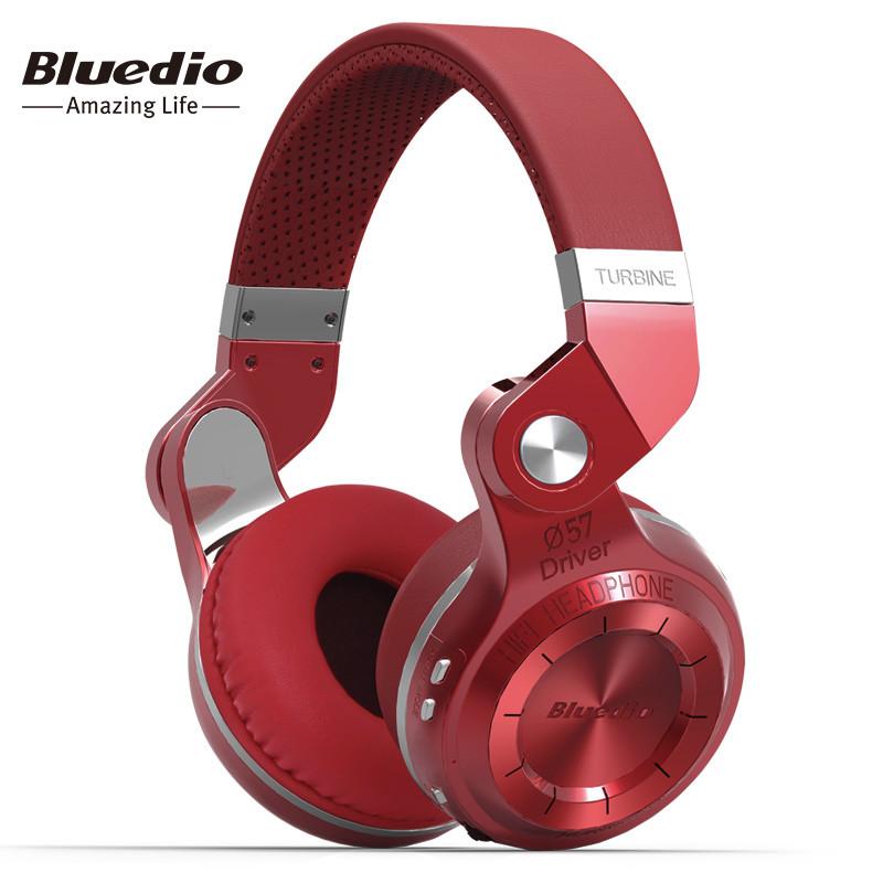 Беспроводные Bluetooth наушники гарнитура Bluedio T2S Turbine. Красные.