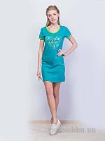 Женское платье МТФ 1491 П бирюзовое 50