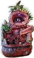 Фонтан настольный мини Винная долина подсветка и шар и насос домашний комнатный декоративный 6122 17=13=26