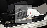 Защитные хром накладки на пороги Kia Cerato Coup II (киа церато/черато/серато купе 2008-2013), фото 3