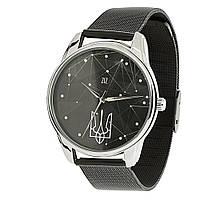 Часы наручные Герб металлические черные
