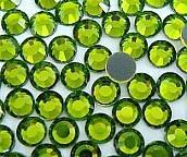 Стрази DMC, olivine (оливка) SS10, термоклеєві. Ціна за 144шт