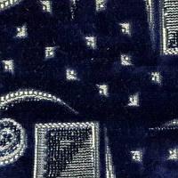 Мебельная ткань велюр (Шпигель)  карнавал синий