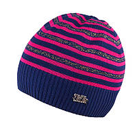 Вязаная детcкая шапка для девочки  TuTu 10.3-003344(46-50, 50-54), фото 1