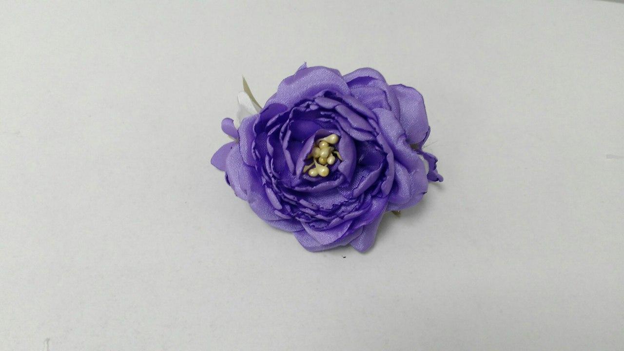 Заколка для волосся з фіолетової півонії