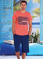 Пижама мужская с шортами хлопок 100%