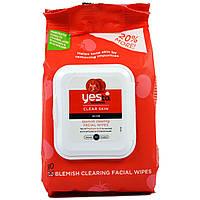 Yes to, Чистая кожа, салфетки для лица против угрей и прыщей, помидоры, 30 салфеток