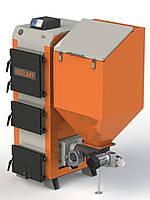 Котел твердотопливный длительного горения бытовой KOTLANT КГП 25 с автоматикой и вентилятором+ZPiD на пеллетах