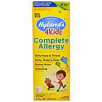 Hylands, Complete Allergy 4 Kids, 4 жидких унций (118 мл)