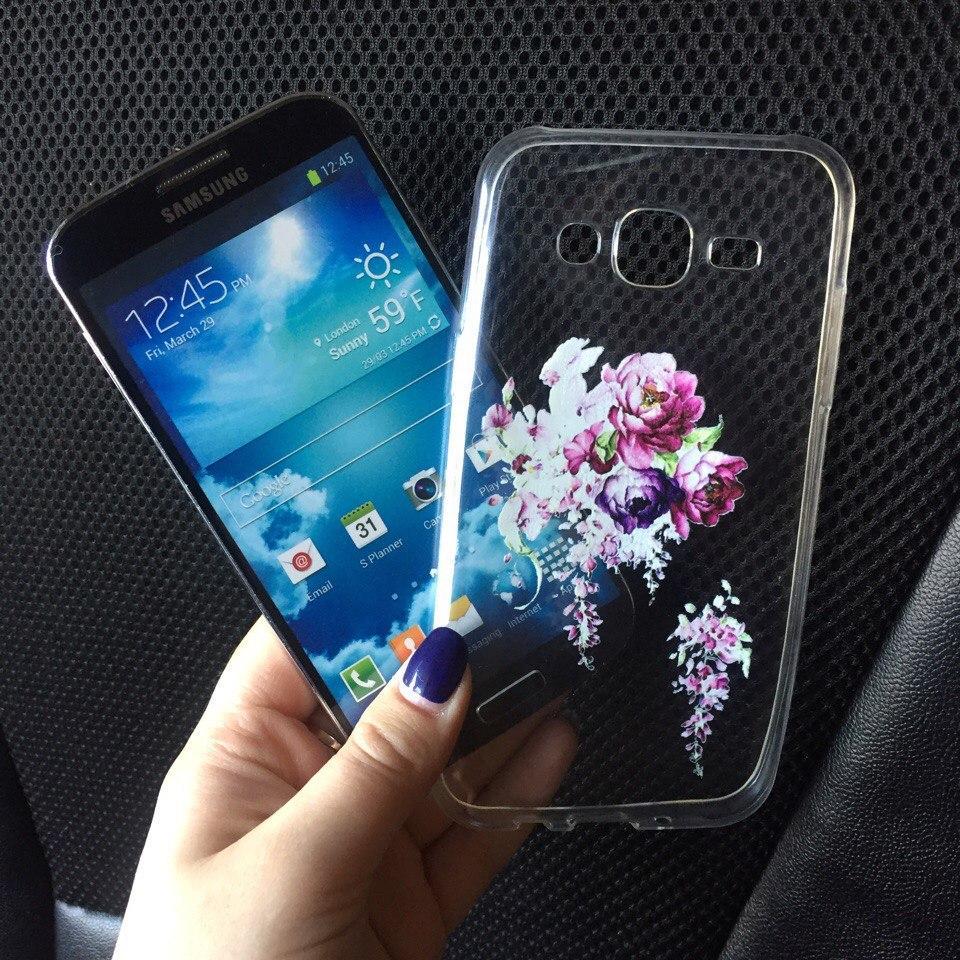Силиконовый чехол для Samsung J5 (J500h) с дизайном