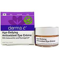 Derma E, Антивозрастной крем вокруг глаз с антиоксидантами, 1/2 унции (14 г)