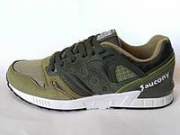 Поступление мужские зеленые болотные кроссовки Saucony G.R.I.D. Приятный очень красивый цвет. Новинка