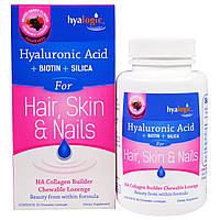 Hyalogic LLC, Гиалоурановая кислота для волос, кожи и ногтей, ассортимент ягодных вкусов, 30 жевательных пастилок